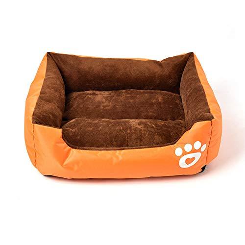 DSGJHJKTO Pet Bed Pet Sofa Cushion Short Pad Paw Print Couch Small Medium Dog Cotton Pet Nest Pet Supplies