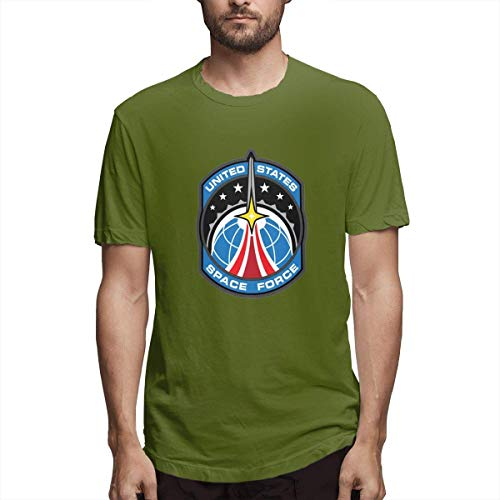 Tengyuntong UiikIIDl Camisetas y Tops Hombre Polos y Camisas United States Space Force T-Shirt USSF Classic Logo Men's T-Shirt