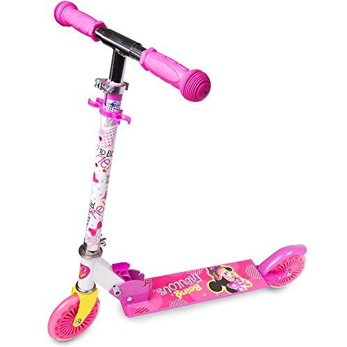 Goldkids Minnie Mickey Kinderroller Kinder-zweirad-Roller ABEC 7, PU-Räder Tretroller Kickscooter Scooter Roller Zweiradroller