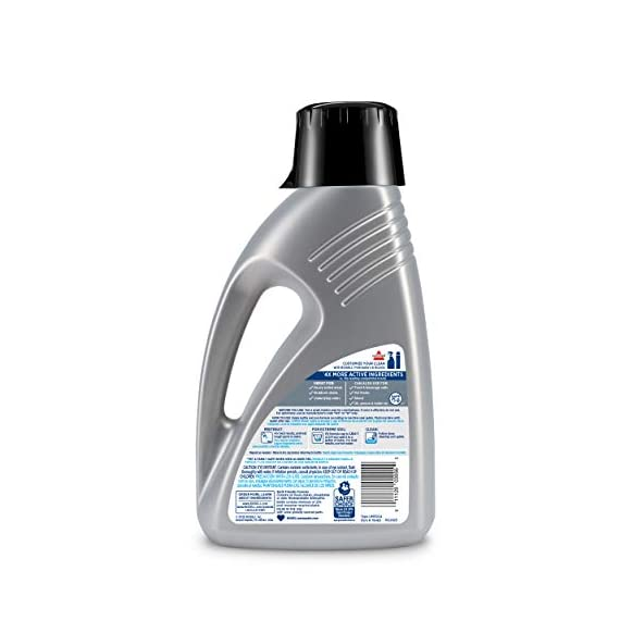 Bissell 78H63 Deep Clean Pro 4X Deep Cleaning Concentrated Carpet Shampoo, 48 ounces - Silver 5 Every BISSELL purchase helps save pets. BISSELL proudly supports BISSELL Pet Foundation and its mission to help save homeless pets. Our most powerful formula for tough, ground-in dirt and stains. Removes tough odors.
