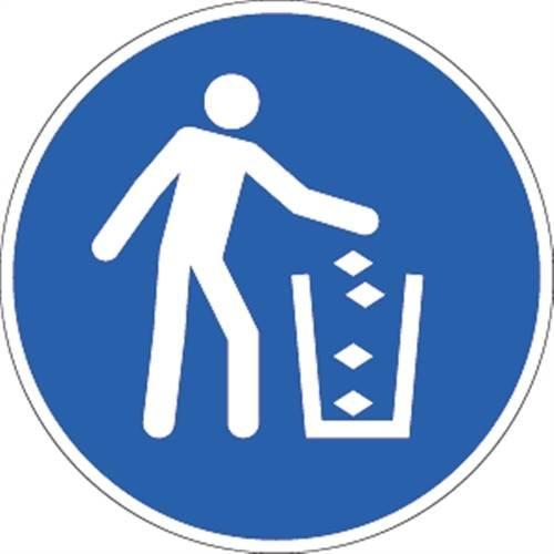 Afvalcontainer gebruiken, folie, Ø 20 cm