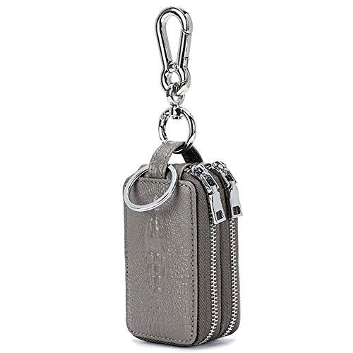 Tasje Blocker Ketting Zipper sleutel Unisex Handmade Genuine Leather Behuizing Pouch Bag Car