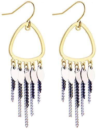 Pendientes Pendientes de niña de moda simple, moda exquisita, temperamento clásico popular, estilo largo, personali