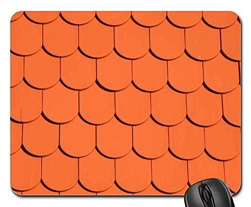 Mauspad Dachziegel Rote Wand Backstein Wand Fenster Orange 25X30 cm