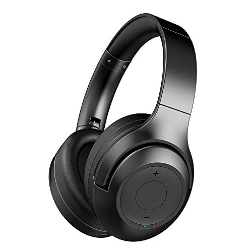 Active Noise Cancelling Headphones BT30NC,Bluetooth Headphones with Deep Bass, Wireless Headphones Over Ear, Comfortable Protein Earpads, 25Hours Playtime for Travel/Work