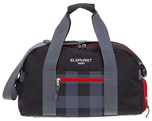 ELEPHANT Hero Signature Sporttasche mit Schuhfach Sport Tasche 12611 (Plaid Red (Schwarz Rot)