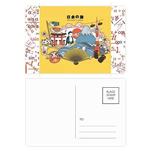 Juego de postales japoneses con recomendación de viaje, 20 unidades