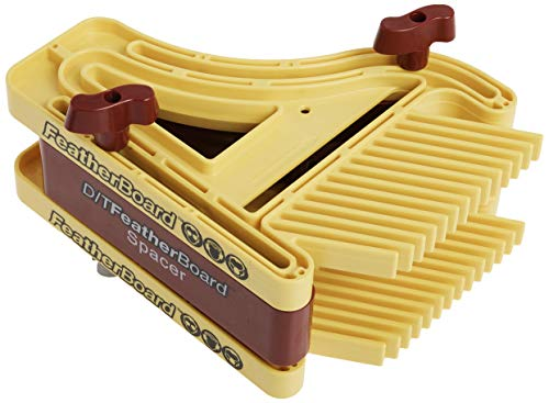 Milescraft 1407 D/TFeatherBoard Dual or Tandem FeatherBoards for Router Tables and Table or Band Saws , Yellow