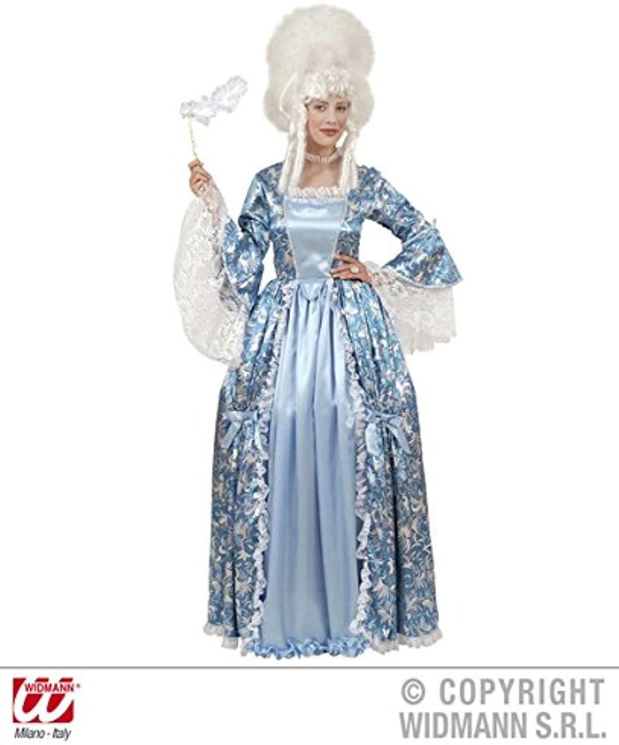 L Ladies MARQUISE DRESS blueE SILVER Accessory for Regency Court Princess Queen Fancy Dress Large UK 1416 Adults Female