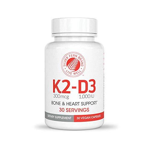 Vitamin K2-D3 Supplement by Silver Fern Brand