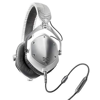 V-MODA Crossfade M-100 Over-Ear Noise-Isolating Metal Headphone  White Silver