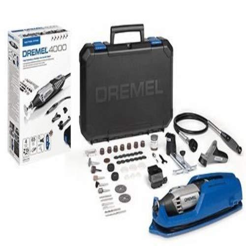 Dremel Platin Edition 4000 Multifunktionswerkzeug - UK Version/UK Stecker (175W, Set mit 4 Vorsatzgeräten, 65 Zubehörteilen, Drehzahl 5.000-35.000 U/min zum Schneiden, Schnitzen, Bohren, Schleifen)