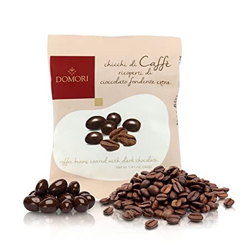Domori Dragées al Caffè, Chicchi Di Caffè Illy Ricoperti Di Cioccolato Fondente, 40 Grammi (Confezione Da 3 Pezzi)