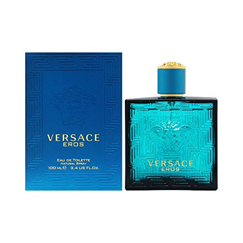Versace Eros Spray for Men, 3.4 Ounce