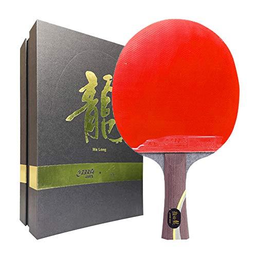 WFENG Raqueta de Tenis de Mesa Ofensiva y Defensiva, Paleta de Ping-Pong Para Competición, Bate de Tenis de Mesa Profesional/Como se muestra/mango largo