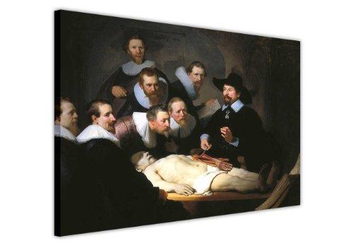 Leinwandbild, Kunstdruck Die Anatomie des Dr. Tulp von Rembrandt von Foto Druck Bilder Raum Dekoration Classic Leinwände, canvas holz, 7- 30' X 20' (76CM X 50CM)