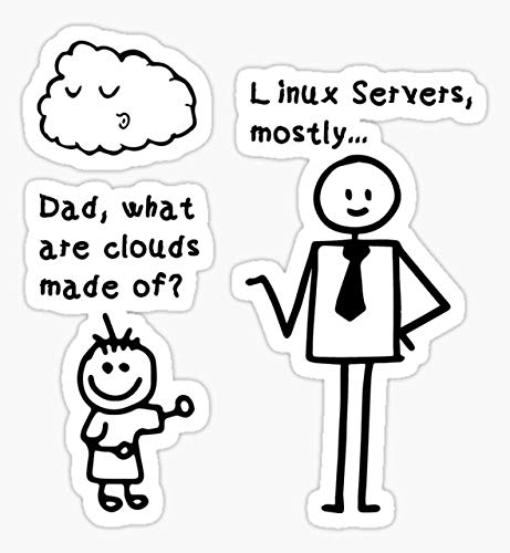 Dad What are Clouds Made of Linux Servers Mostly - Peel and Stick - Sticker Graphic - Die Cut Vinyl