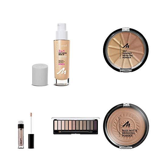 Manhattan Cosmetics Oktoberfest Look Wiesn Glow Set mit Make-up Flüssig Foundation + Matte Bronzing...