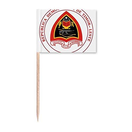 Dili East Timor National Emblem Zahnstocher Flags Marker Topper Party Dekoration