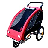 GT-LYD Carrito Remolque Infantil para Bicicleta,Carrito De Bebé Plegable para Cochecito, 1 Niño con La Bicicleta Ruedas Giratorias Delanteras De Bicicleta