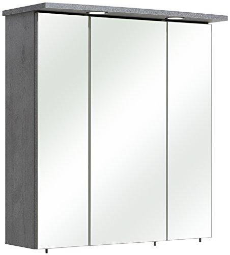 Pelipal 913 Hanau spiegelkast Bacoli I, houtdecor, betonlook, 20,0 x 65,0 x 72,0 cm