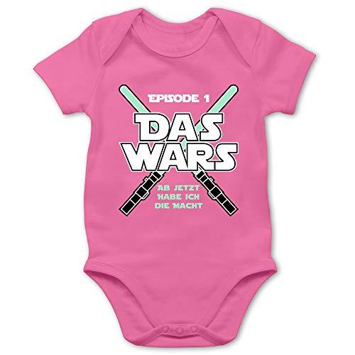 Shirtracer Zur Geburt - Das Wars Jetzt Habe ich die Macht Junge - 1/3 Monate - Pink - Body jetzt Habe ich die Macht - BZ10 - Baby Body Kurzarm für Jungen und Mädchen