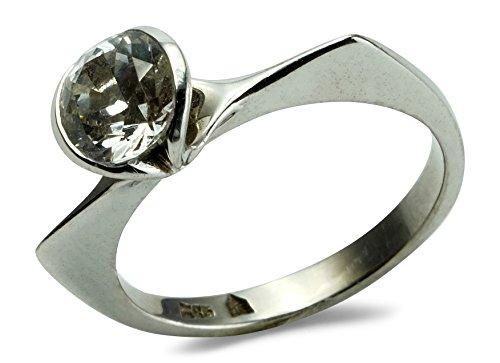Christian Bauer Damen Ring 14 ct 585 Weissgold Yag-Solitär Größe 52 (16.6) R04-A0006