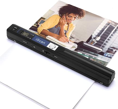 MUNBYN Wand Portable Scanners, Independently Scan for Documents, Photos, Book Pages, 900 Dpi, Included 16G SD-Card, Handheld Photo Scanner Transfer Files with PC, No Driver