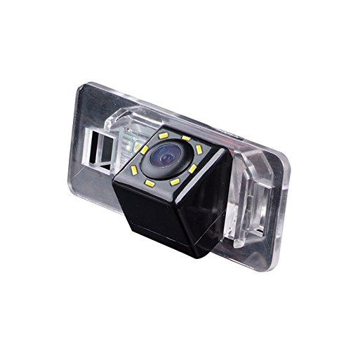 Kalakass Colore telecamera di retrovisione con linee di griglia come luce targa, Retrocamera Con Luci Led di parcheggio per E39 E60 E60N E53 E70 E71 X6:530I 536Li 335i 328i 335i 320i 330i X1 520Li