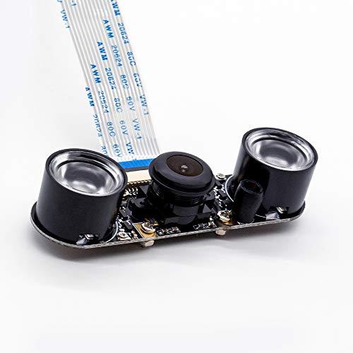 Raspberry Pi4B IR Kamera Nachtsicht Fokus einstellbar 5MP 1080P Fischauge Weitwinkel-Kamera-Modul kompatibel mit allen RPI Board
