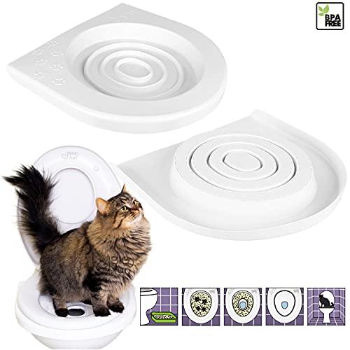 4Big.Fun - Sedile per water per gatti, con sistema di allenamento per abituare il vostro gatto al water