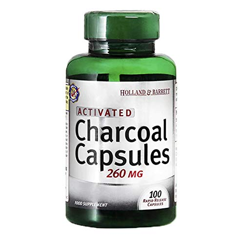 Holland & Barrett Activated Charcoal, 100 Capsules, 260mg