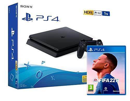 PS4 Slim 1Tb schwarz Sony Playstation 4 Konsole + FIFA 22