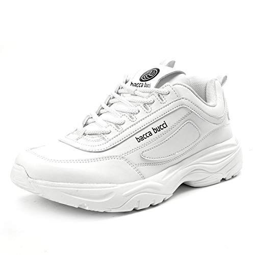 Bacca Bucci® Men's Energy Afterburn Disruptor for Multiple Sports,Fashion, Party & Fun Shoes/Sneakers-White Size:7