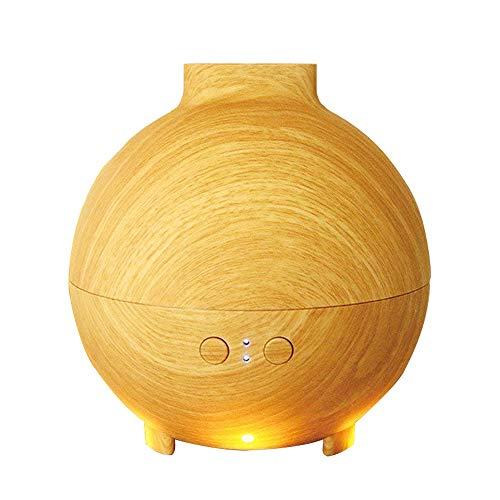 Diffuseur d'Huiles Essentielles, Aromacare 600ML Humidificateur Portable Ultrasonique Brume Fraîche Arôme Diffuseur de Parfum avec Prise UE Lumière LED pour SPA, Yoga, Maison,...
