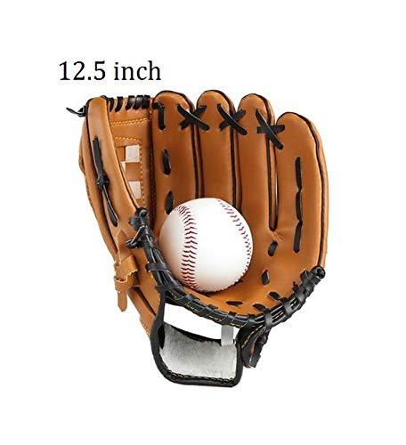 Windlia PVC Leather 10.5'/11.5'/12.5' Softballs Outdoor Team Sports Baseball Gloves for Men Women Kids Practice Equipment,for adult2