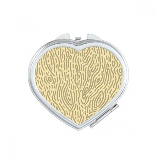 DIYthinker Modèles Jaunes d'écorce d'empreintes digitales Coeur de Maquillage Compact Miroir de Poche Portable Mignon Petit Cadeau Miroirs Main Multicolore