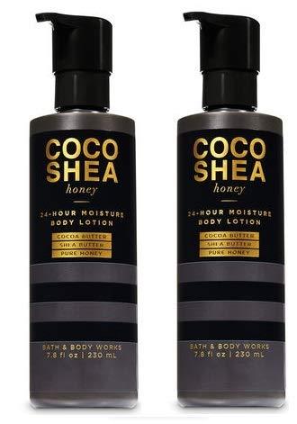 Bath and Body Works 2 Pack Cocoshea Honey Lozione per il corpo idratante 24 ore su 24 7,8 Oz.
