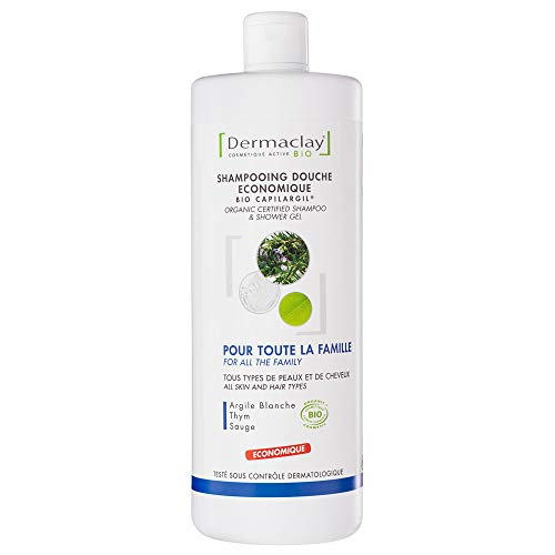 Dermaclay Shampoo / Duschgel Provence, Romarin, Salbei, Thymian, weiße Tonerde, 1 l