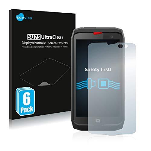 savvies 6-Pezzi Pellicola Protettiva Compatibile con Crosscall Action X3 Protezione Schermo Trasparente
