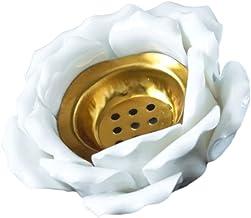 Garneck Titular da Luz Do Chá Da Flor de Lótus Cerâmica Votiva Flor Tealight Suporte de Vela Suporte de Vela Lâmpadas para...