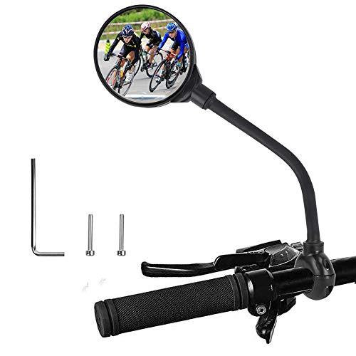 Fahrradspiegel für Lenker, Fahrrad Rückspiegel 360°Verstellbarer Lenker und drehbarer konvexer Acrylspiegel, Links&Richtig Universal Fahrrad Spiegel für Ebike Mountainbike Mofa Rennräder (#1pc)