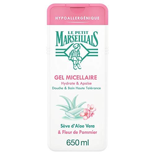 Le Petit Marseillais Gel de ducha y baño hipoalergénico de Savia de Aloe y flor de manzano de 650 ml