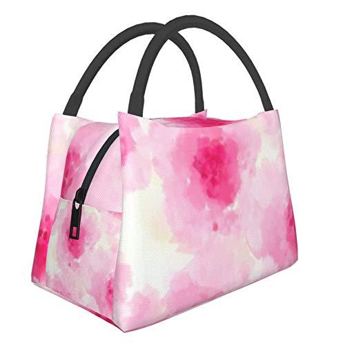 Bolsa de almuerzo portátil con aislamiento Cool (Pattern Delicate Pink) 8.5L