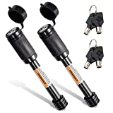 CZC AUTO Trailer Hitch Receiver Lock Pin Keyed Alike 2 Pack 5/8 Inch Dia 4 Inch Super Extra Long Black Pin for Class III IV Hitches for Hitch Bike Rack Tray Ball Tow Rope for Trailer Truck Car Boat