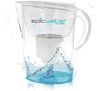 Epic Pure Water Filter Pitcher   100% BPA-Free   Removes Fluoride, Lead, Chromium 6, PFOS PFOA, Heavy Metals, Microorganisms, Pesticides, Chemicals, Industrial Pollutants & More   3.5L (White)