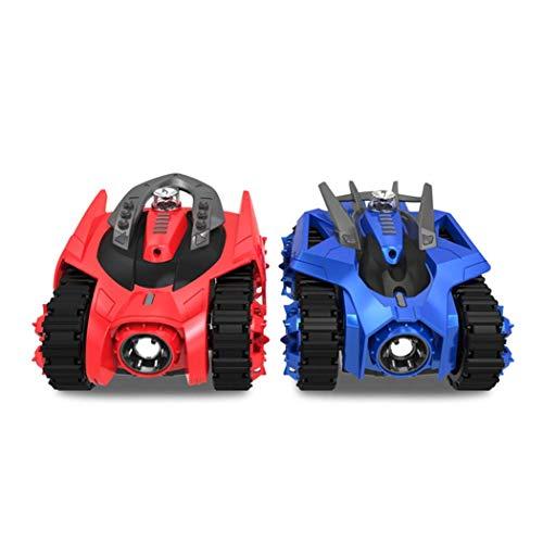 RCTOYCAR 2 en 1 Control Remoto Tanque de Combate Coche Bluetooth Control Remoto Inteligente con teléfono Juegos de Batalla Virtual para niños