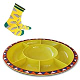 Serving Platter for Parties Large Divided Tray, Plate for Taco Chips and Dip, Snacks with ...