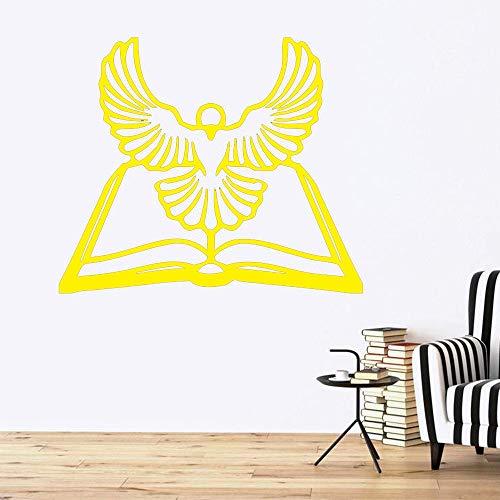 Calcomanía de vinilo Animales y pájaros Decoración Etiqueta de la pared Libro mayor Biblia Paloma blanca Espíritu Santo Removbale Decoración del dormitorio en casa color-4-2 30x34cm