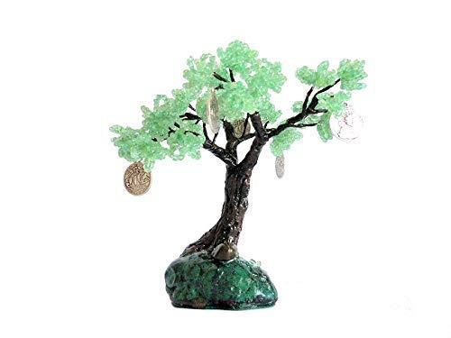 6 Inch Beaded Money Tree Bonsai on Rock. Handmade Feng Shui Prosperity Symbol Bonsai